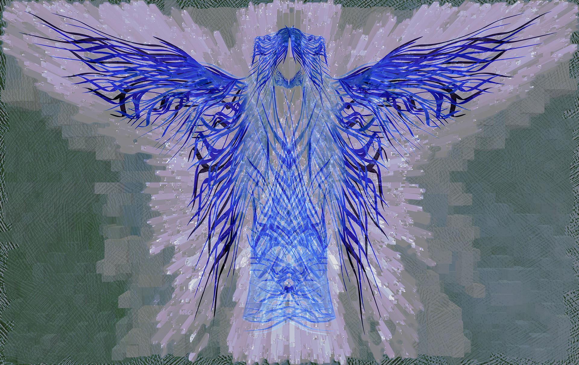Blue Angel Abstract Art by Alejandro LIzardo (public domain)