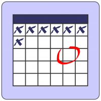 clipart of a generic calendar page