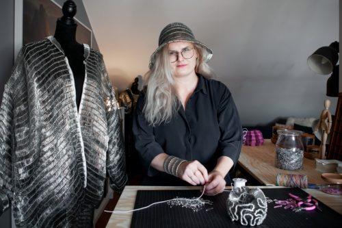Tonje Halvorsen in her studio